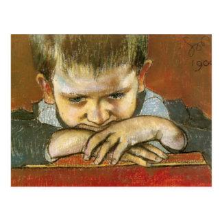 Wyspianski, estudio de un niño - Mietek, 1904 Postal
