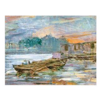 Wyspianski, gabarras en el Sena, 1894 Tarjetas Postales