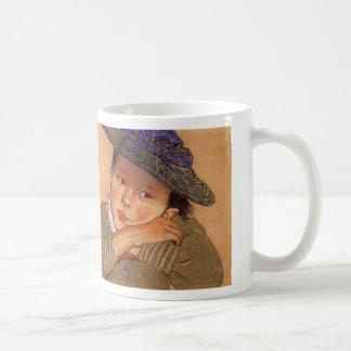 Wyspianski, Girl in a Blue Hat, 1895 Coffee Mug