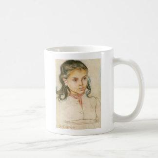 Wyspianski, Head of a Girl, 1895 (1) Coffee Mug