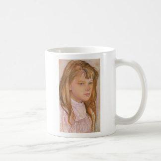 Wyspianski, Head of a Girl, 1895 (2) Coffee Mug