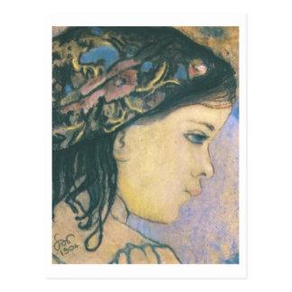 Wyspianski, Helenka - Daughter del artista, 1904 Postal