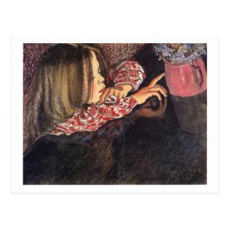 Wyspianski, Helenka with a Vase of Flowers, 1902 Postcard