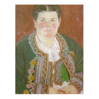 Wyspianski, la esposa del artista en Jacket Tarjetas Postales
