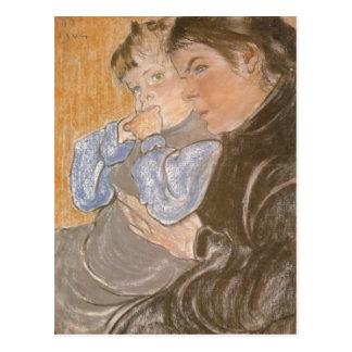 Wyspianski, la esposa y su Son, 1904 del artista Postales