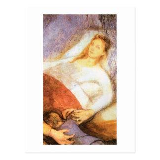 Wyspianski, la muerte de la madre, 1894 tarjeta postal