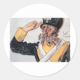 Wyspianski, Ludwik Solski as a Veteran, 1904 Classic Round Sticker