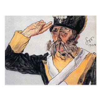 Wyspianski, Ludwik Solski como veterano, 1904 Tarjetas Postales