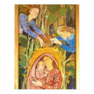 Wyspianski, Madonna y niño, 1896 Tarjetas Postales