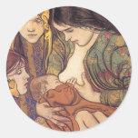 Wyspianski, Maternity, 1905 Classic Round Sticker