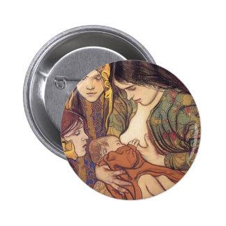 Wyspianski, Maternity, 1905 Pinback Button