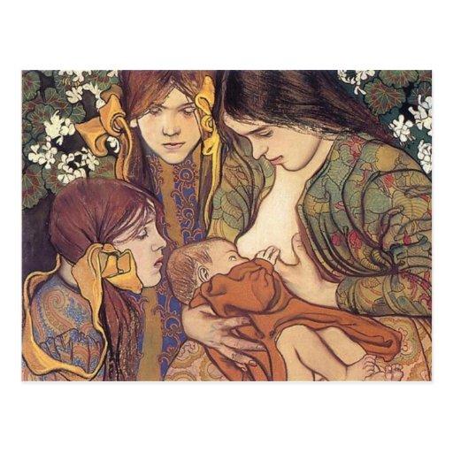 Wyspianski, Maternity, 1905 Tarjetas Postales
