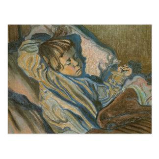 Wyspianski, Mietek que duerme, 1902 Postal