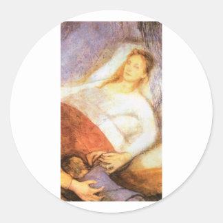 Wyspianski, Mother's Death, 1894 Classic Round Sticker