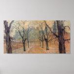 Wyspianski, parque de Planty en el amanecer, 1894 Póster