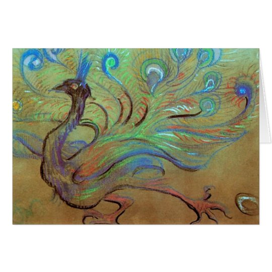 Wyspianski, Peacock, 1897 Card