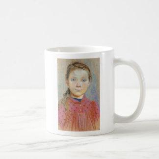 Wyspianski, Portrait of a Girl in a red Dress 1895 Coffee Mug