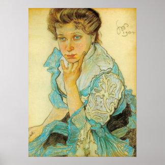Wyspianski, Portrait of Leonowa Sternbachowa, 1904 Posters