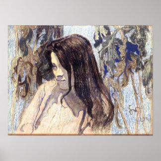 Wyspianski, retrato de Eliza Parenska, 1902 Póster