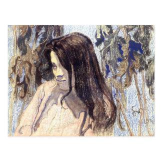 Wyspianski, retrato de Eliza Parenska, 1902 Postal