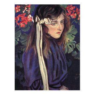 Wyspianski, retrato de Eliza Parenska, 1905 Postales