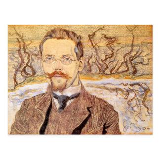 Wyspianski, retrato de Franciszek Krzysztalowicz Tarjeta Postal