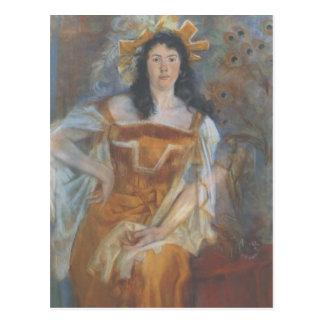 Wyspianski, retrato de Honorata Leszczynska, 1894 Tarjetas Postales