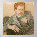 Wyspianski, retrato de José Mehoffer, 1898 Impresiones
