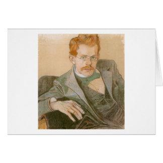 Wyspianski, retrato de José Mehoffer, 1898 Tarjeta Pequeña