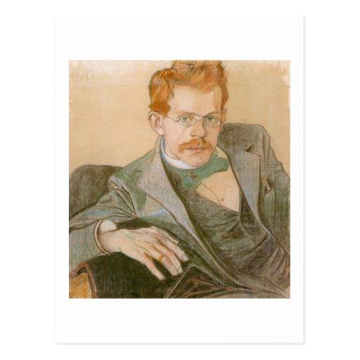 Wyspianski, retrato de José Mehoffer, 1898 Tarjetas Postales