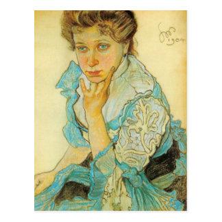 Wyspianski, retrato de Leonowa Sternbachowa, 1904 Postales