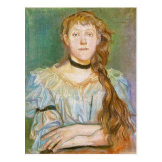 Wyspianski, retrato de Maria Waskowska, 1894 Tarjeta Postal
