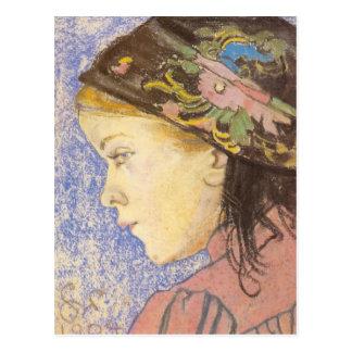 Wyspianski, retrato de un chica, 1904 tarjetas postales
