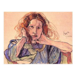 Wyspianski, retrato del Irena Solska, 1904 Tarjetas Postales