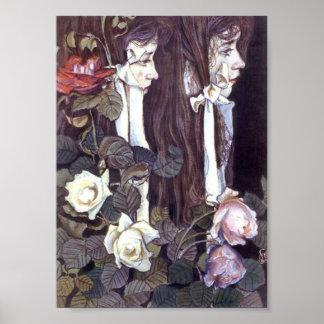 Wyspianski, retrato doble de Eliza Parenska 1905 Póster
