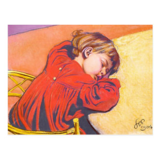 Wyspianski, Sleeping Stas, 1904 Postcard