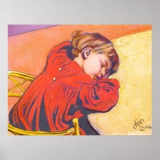 Wyspianski, Stas durmiente, 1904 Póster