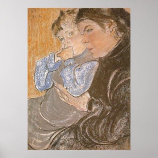 Wyspianski, The Artist's Wife and their Son, 1904 Print