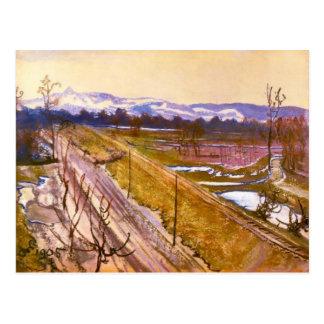 Wyspianski, View of Kosciuszko Mound, 1905 Postcard