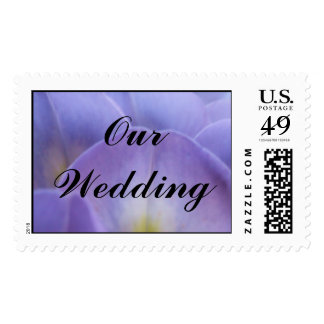 Wysteria Our Wedding Stamp