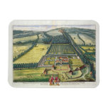 Wytham in the county of Berkshire engraved by Joha Rectangle Magnet