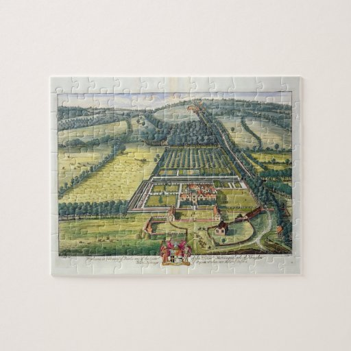 Wytham in the county of Berkshire engraved by Joha Jigsaw Puzzle
