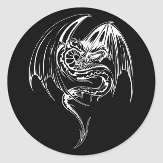 Wyvern Dragon Are Fantasy Mythical Creatures Classic Round Sticker