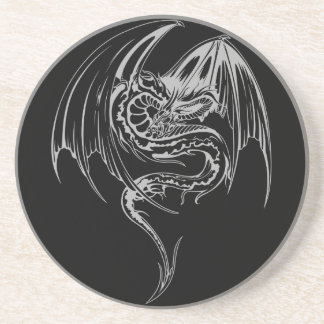 Wyvern Dragon Are Fantasy Mythical Creatures Drink Coasters