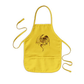 Wyvern Dragon Are Fantasy Mythical Creatures Kids' Apron