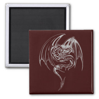 Wyvern Dragon Are Fantasy Mythical Creatures 2 Inch Square Magnet