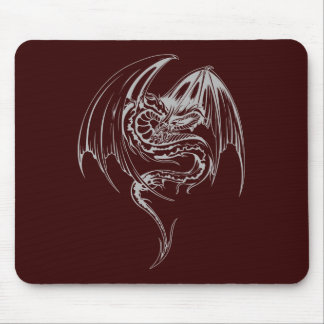 Wyvern Dragon Are Fantasy Mythical Creatures Mouse Pad