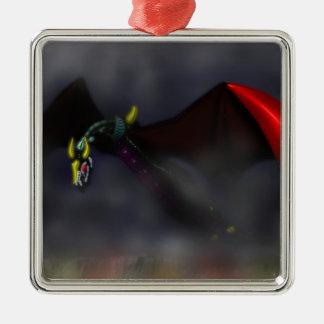 Wyvern Flight (colour) Metal Ornament