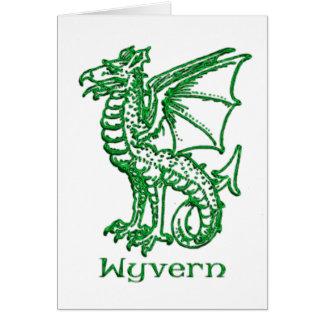 Wyvern medieval heraldry card