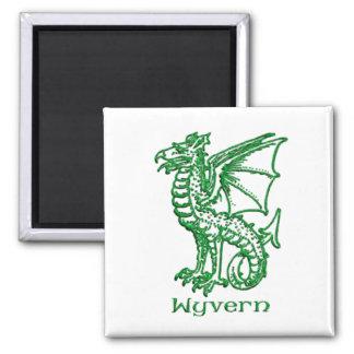 Wyvern medieval heraldry magnet